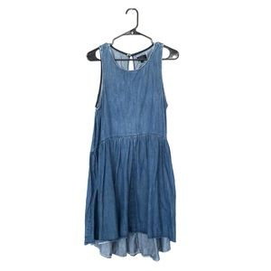 topshop denim dress size 8